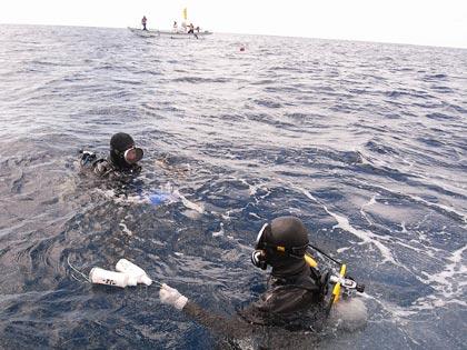 潜水作業開始