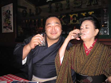 安美錦関と社長