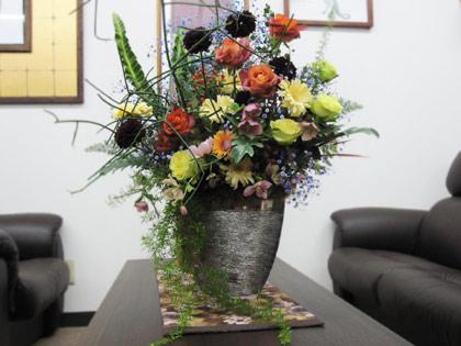 花器に生けられたお花