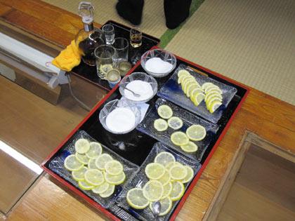 レモンと砂糖とブランデー